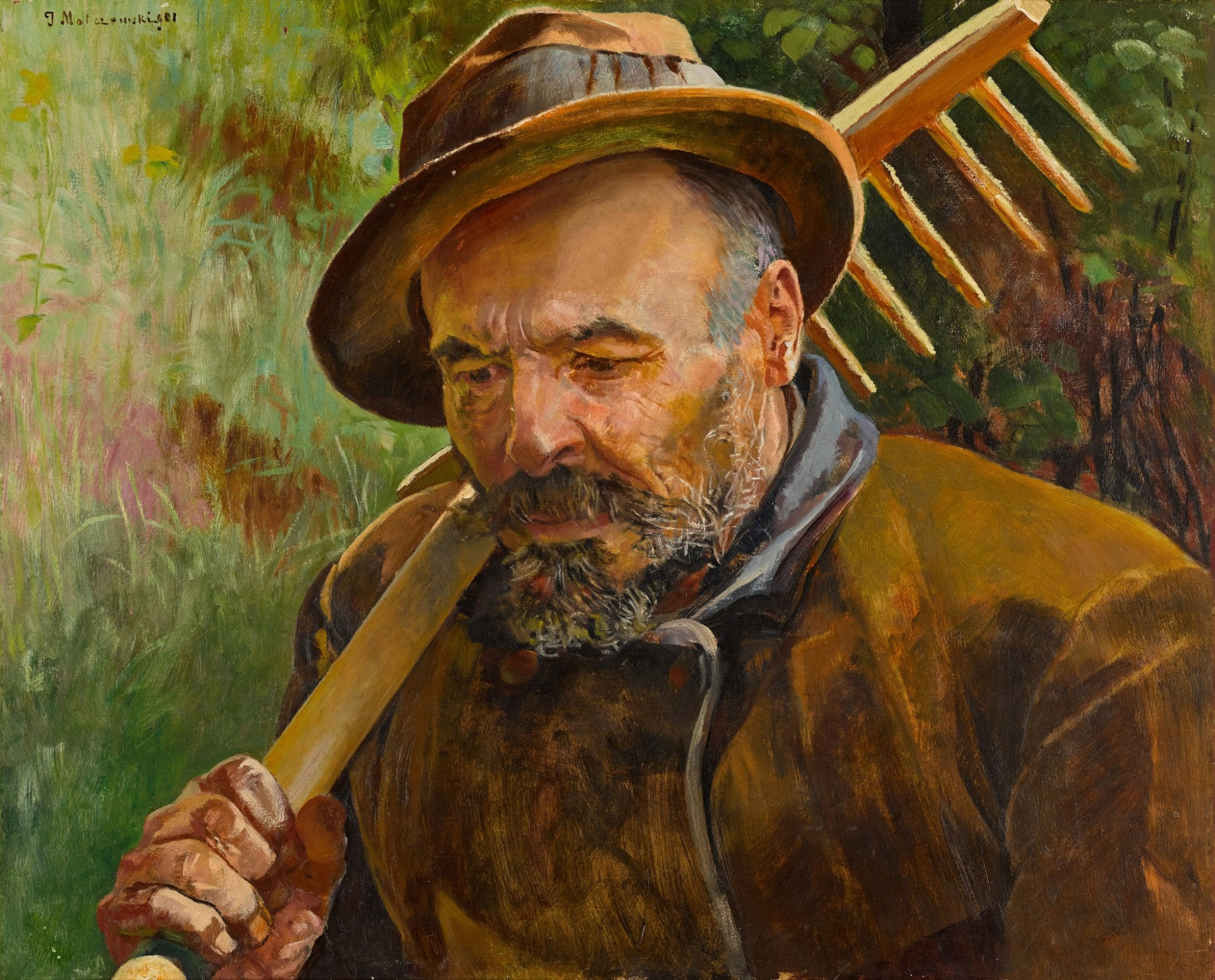 """Jacek Malczewski (1854-1929) """"Powrót z pola"""" 1901 rok, źródło: Sotheby's"""