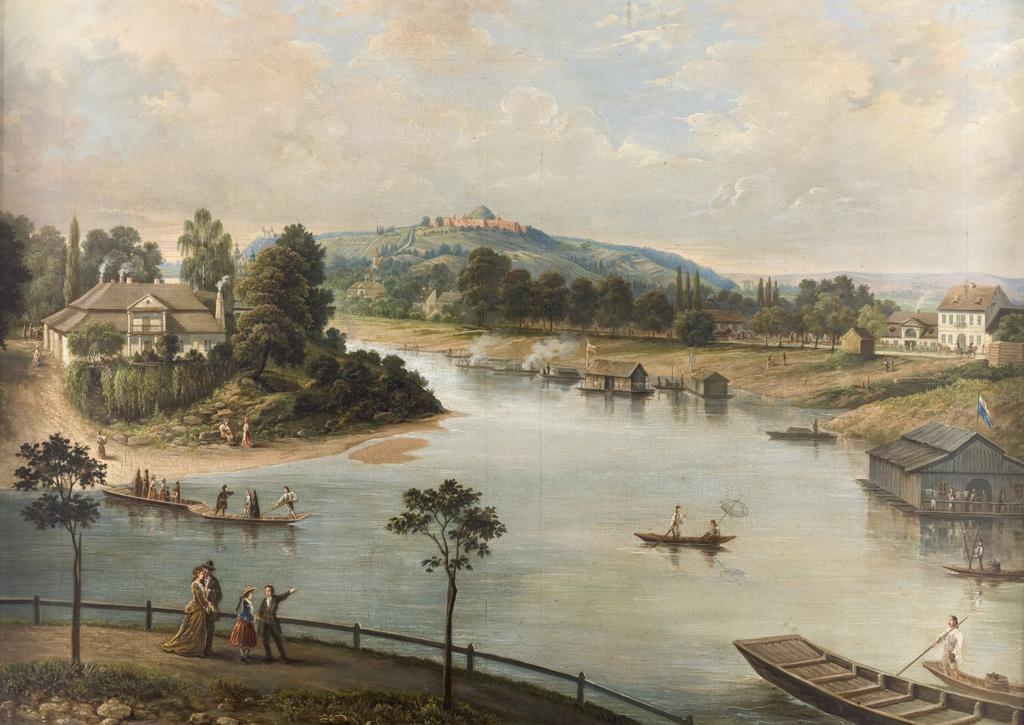 """Saturnin Świerzyński (1820-1885) """"Widok Krakowa"""", 1876 rok, źródło: Muzeum Narodowe w Krakowie"""
