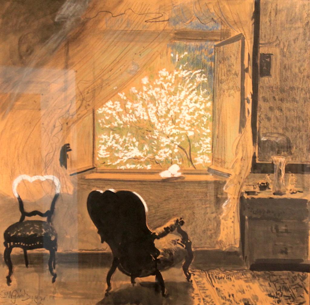 """Leon Wyczółkowski (1852-1936) """"Wiosna"""", 1931 rok, źródło: Muzeum Archidiecezjalne w Poznaniu (fot. archiwum autora)"""