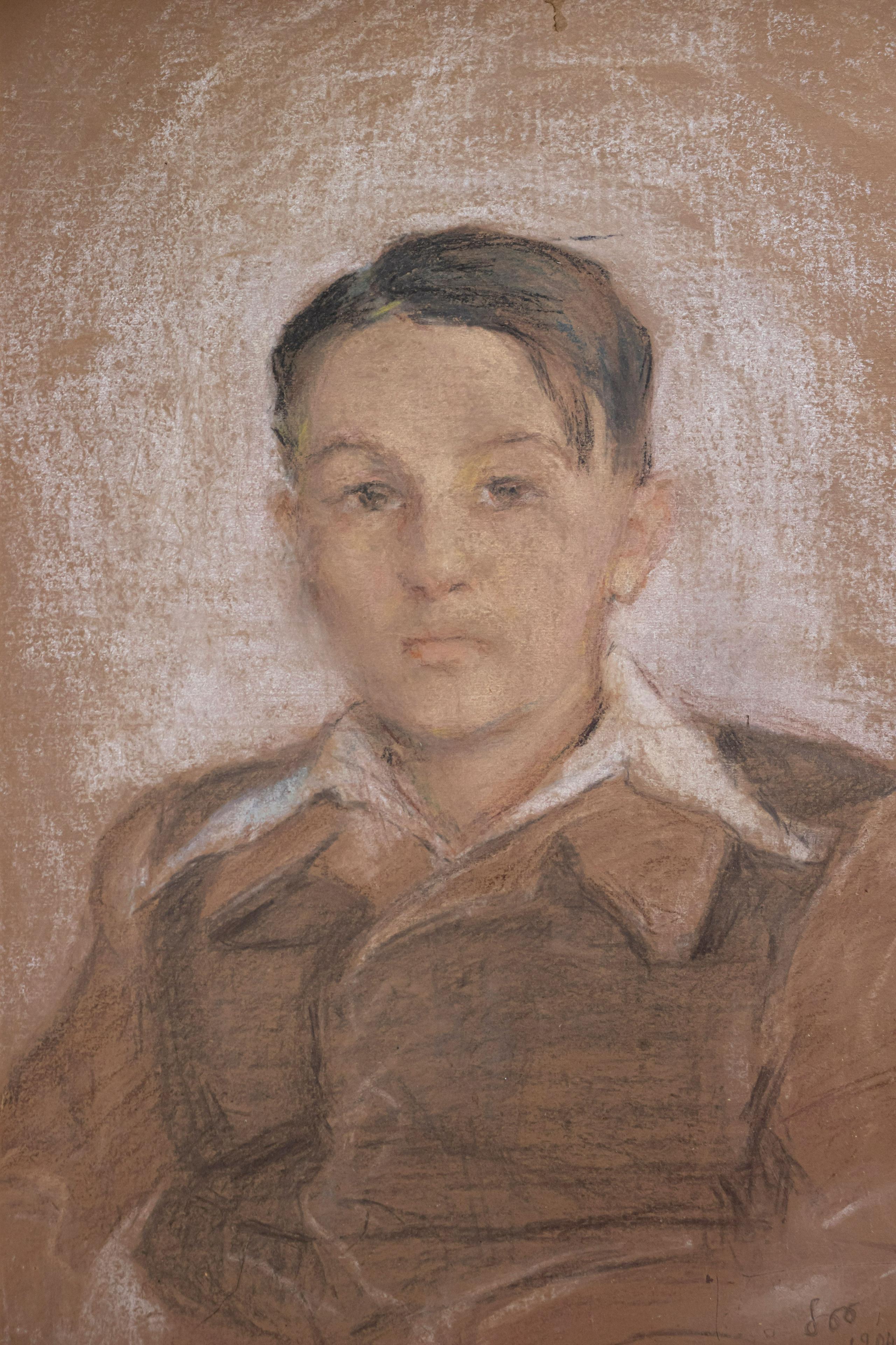 """Stanisław Wyspiański (1869-1907) """"Portret chłopca"""", źródło: Giorgio Auctions"""