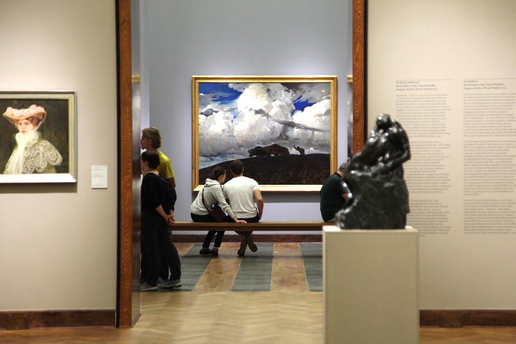 """""""Ziemia"""" Ferdynanda Ruszczyca na ekspozycji w Muzeum Narodowym w Warszawie, źródło: archiwum autora"""