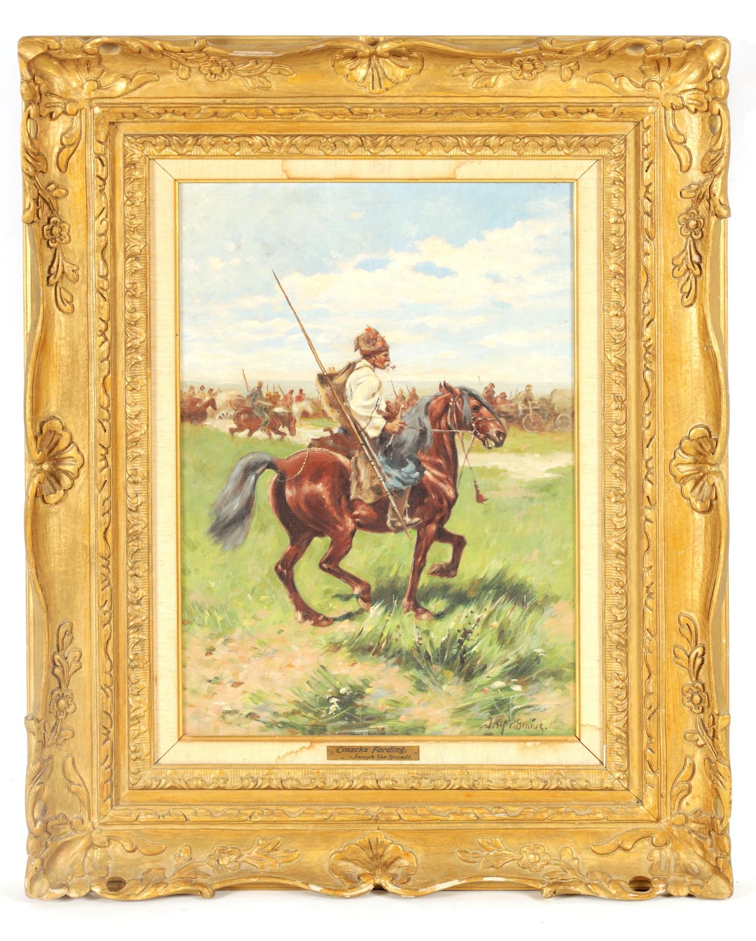 "Józef Brandt (1841-1915) ""Kozak na koniu"", źródło:  Hutchinson Scott Auctioneers"