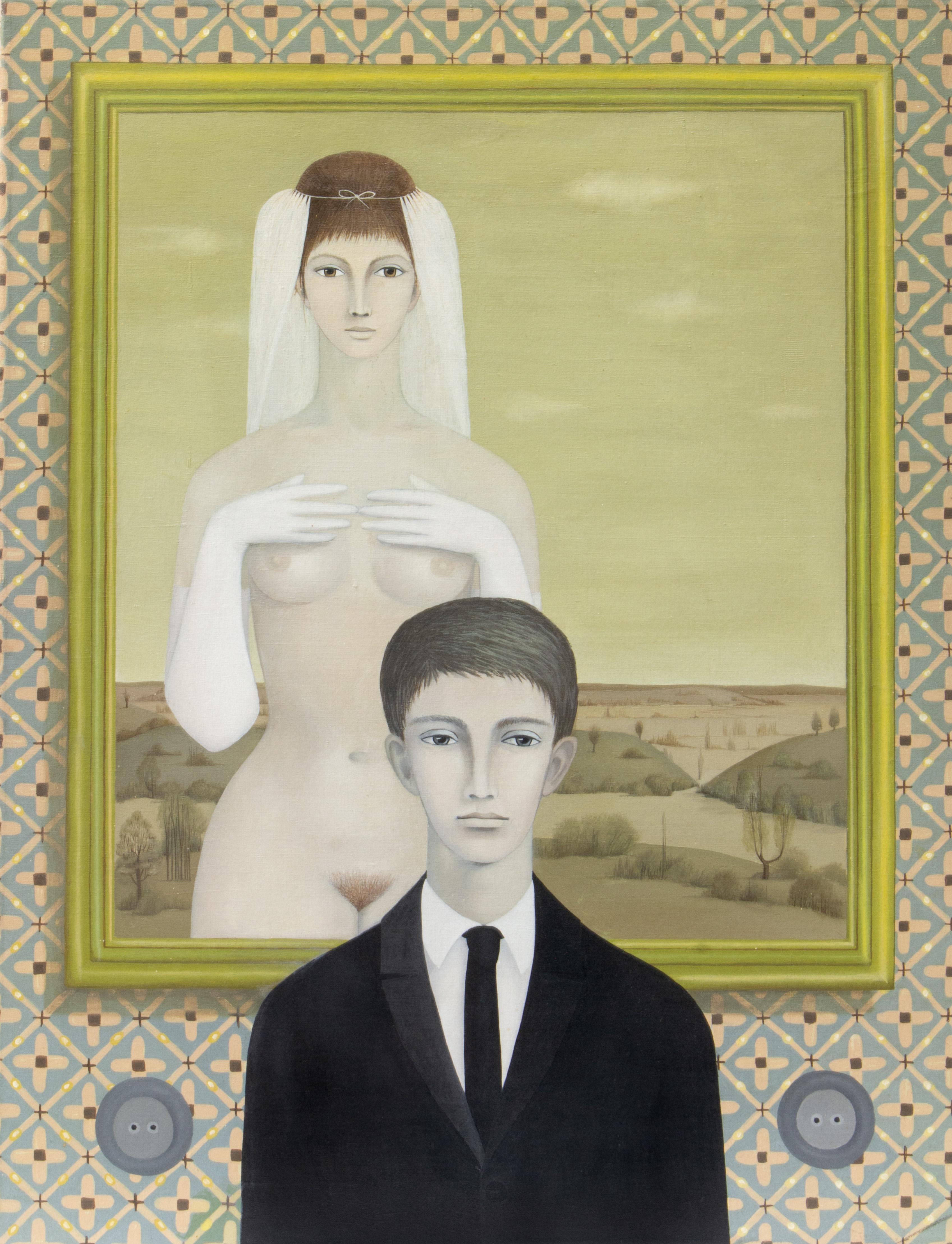 """Anna Güntner (1933-2013) """"Spotkanie z narzeczonym"""", źródło: Shapiro Auctions"""