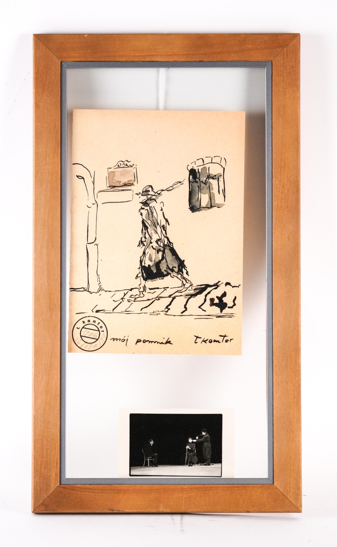 """Tadeusz Kantor (1915-1990) """"Mój pomnik"""", źródło:  Westport Auction"""
