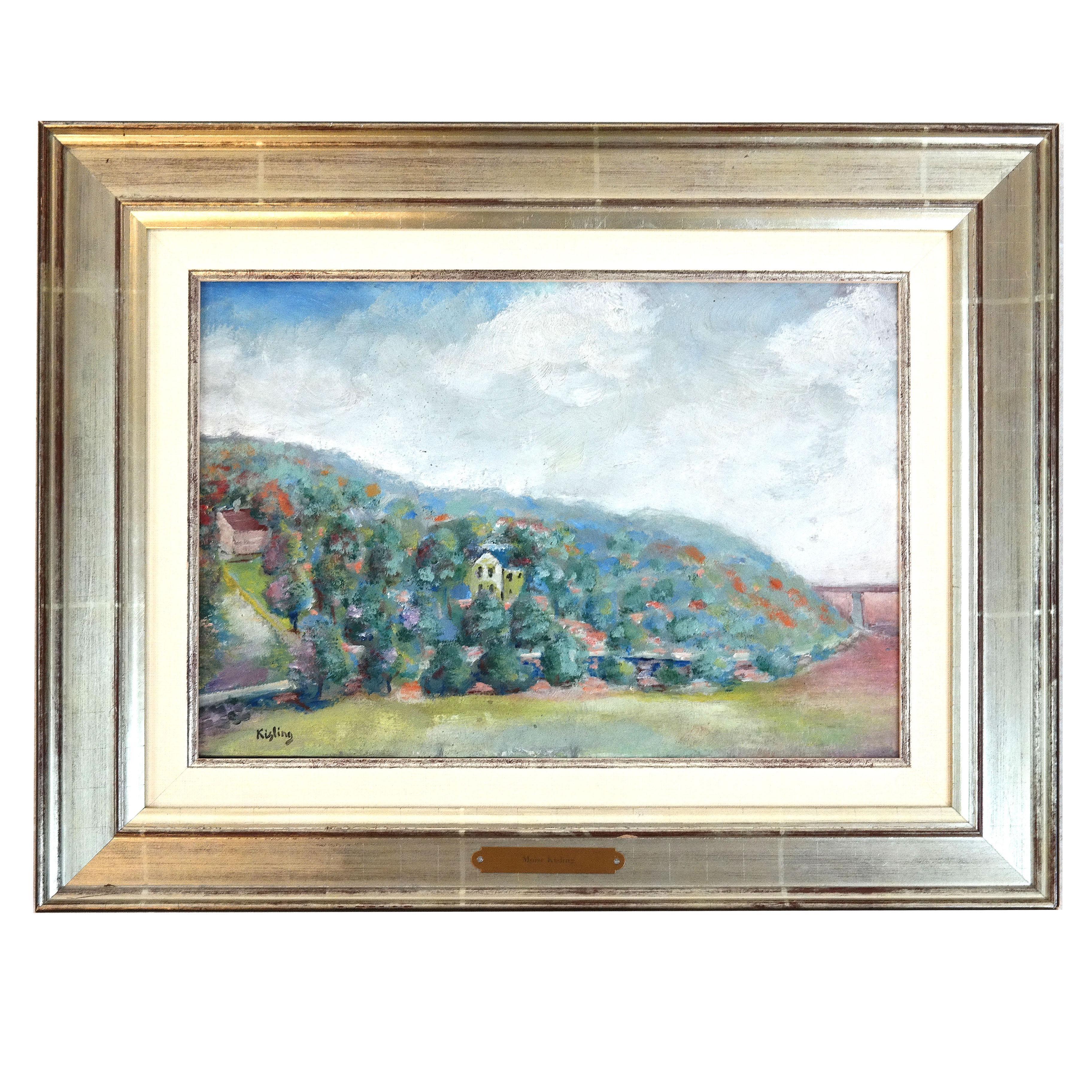 """Mojżesz Kisling (1891-1953) """"Pejzaż z południowej Francji"""", źródło: Roland NY"""