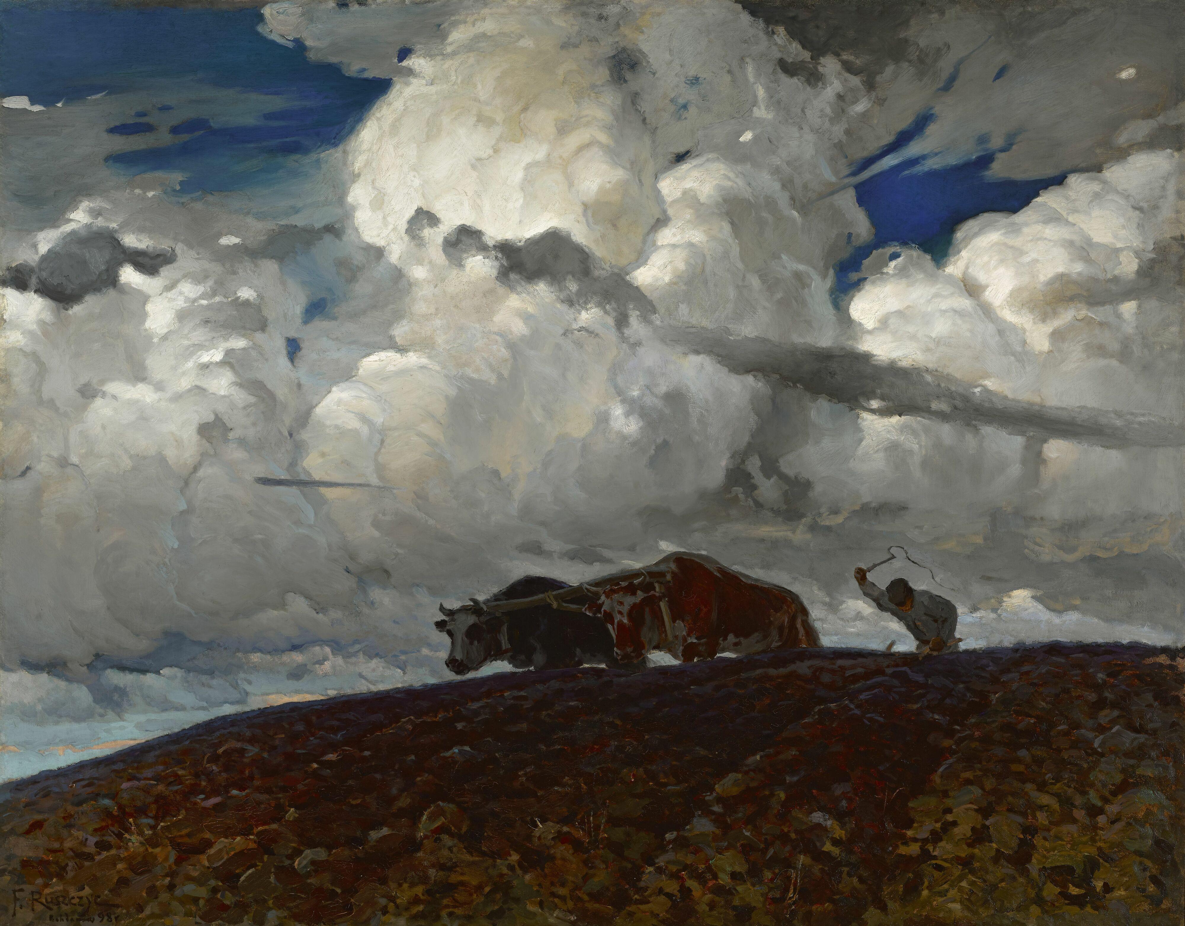 """Ferdynand Ruszczyc (1870-1936) """"Ziemia"""", 1898 rok, źródło: Muzeum Narodowe w Warszawie"""