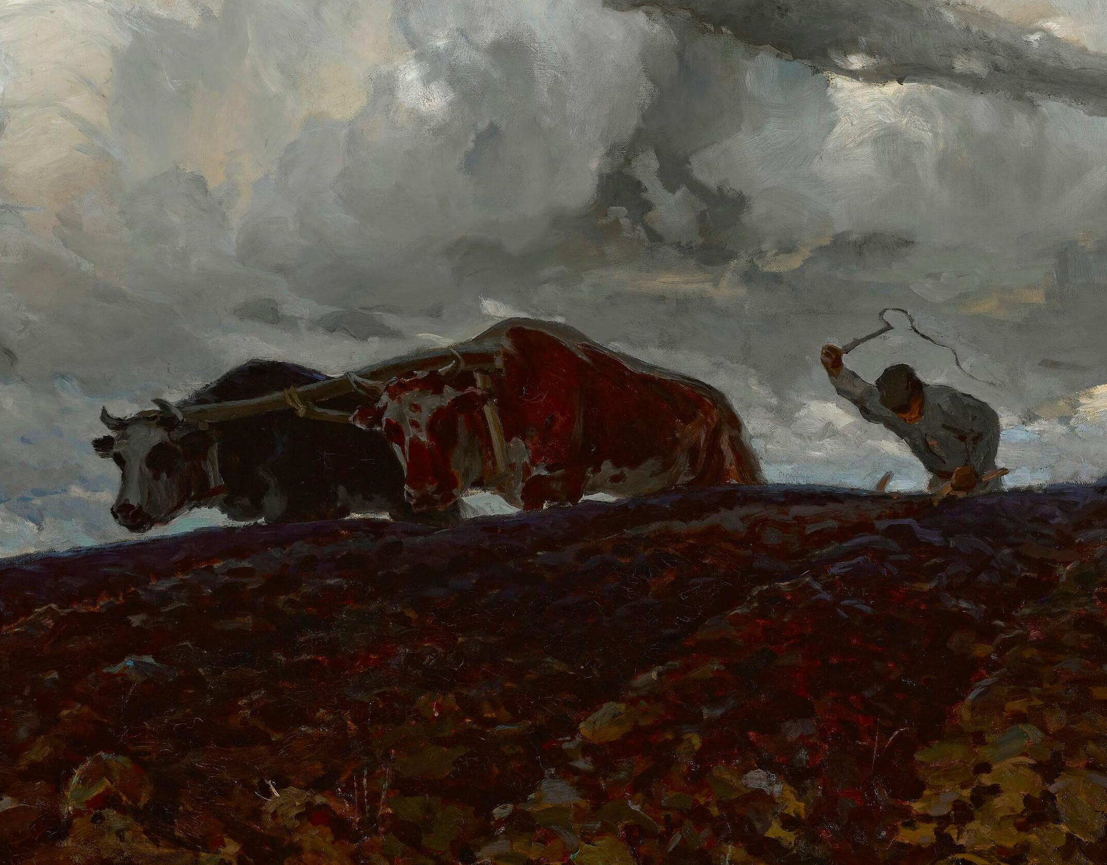 """Ferdynand Ruszczyc (1870-1936) """"Ziemia"""" (fragment), 1898 rok, źródło: Muzeum Narodowe w Warszawie"""