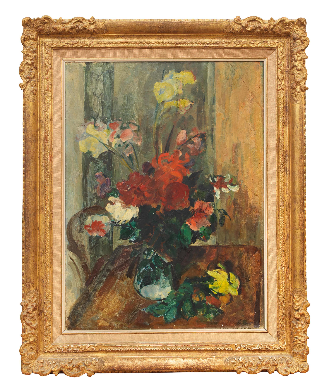 """Dawid Seifert (1896-1980) """"Martwa natura z bukietem kwiatów"""", źródło: Bonhams"""