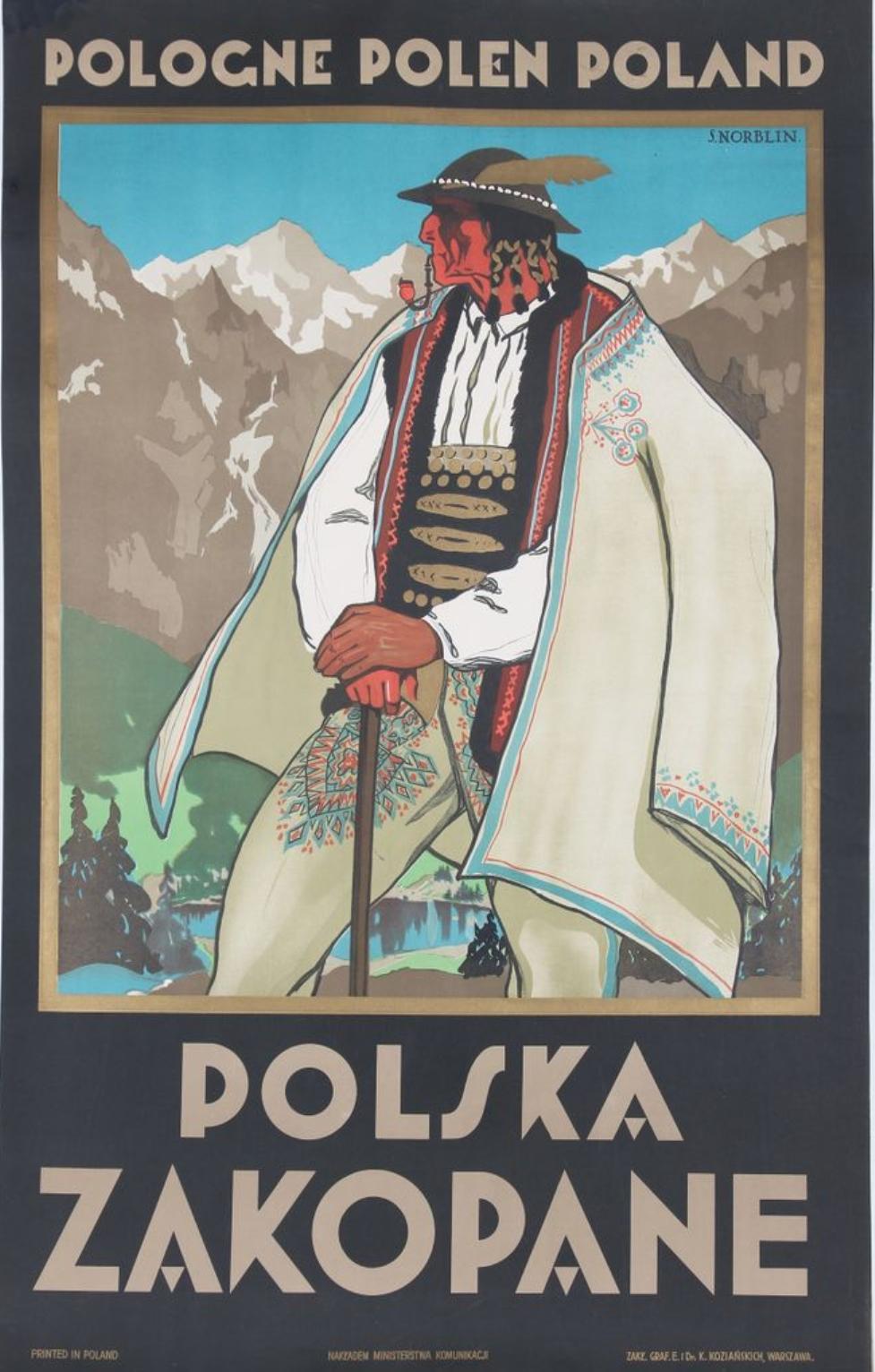 "Stefan Norblin (1892-1952) ""Polska - Zakopane"", źródło: Lhomme"