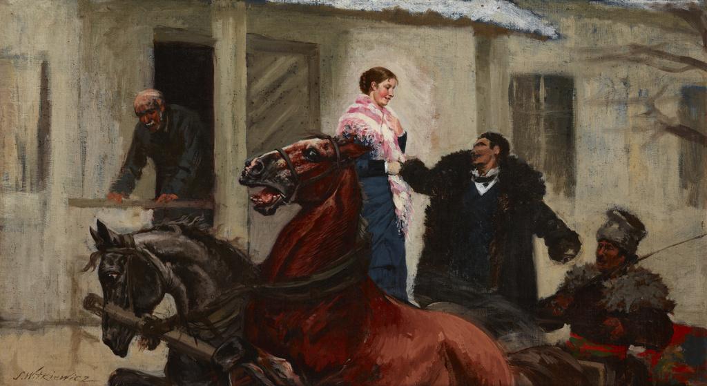 """Stanisław Witkiewicz (1851-1915) """"Na bal"""", źródło: Muzeum Narodowe w Krakowie"""