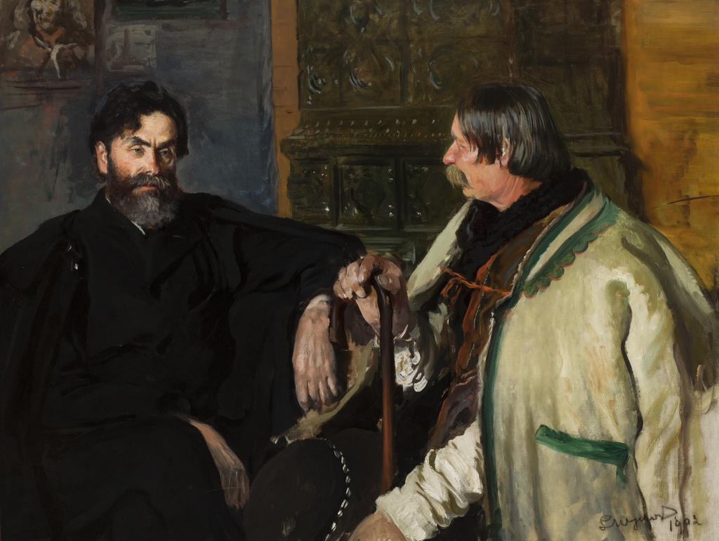 """Leon Wyczółkowski (1854-1936) """"Portret Stanisława Witkiewicza w Wojciechem Rojem"""", 1902 rok, źródło: Muzeum Narodowe w Krakowie"""