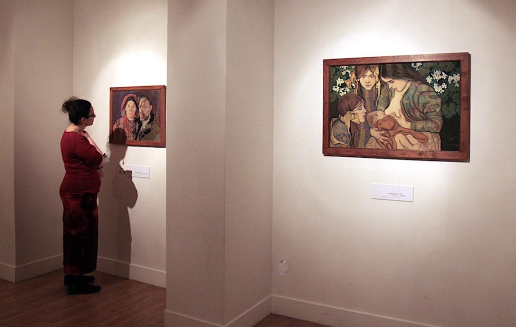 """""""Autoportret z żoną"""" oraz """"Macierzyństwo"""" w Muzeum Narodowym w Krakowie, źródło: archiwum autora"""