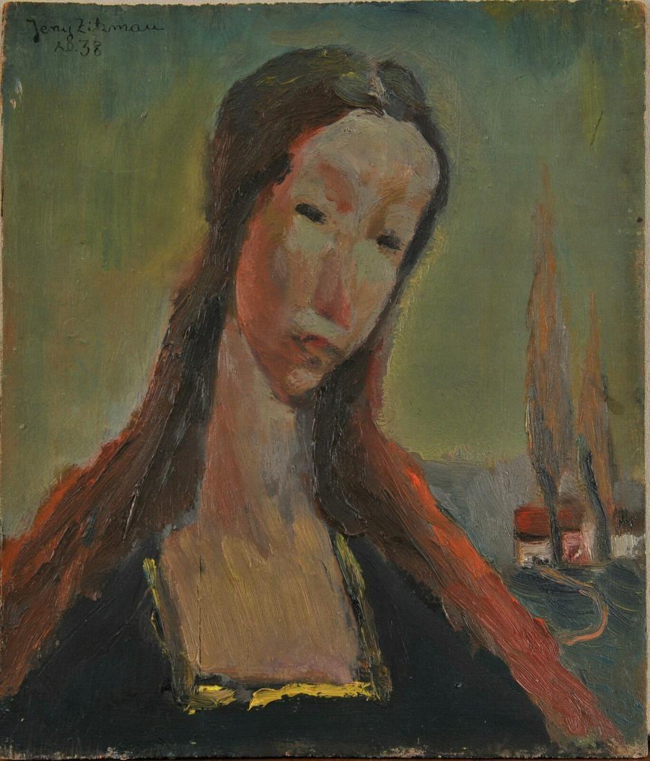 """Jerzy Zitzman (1918-1999) """"Portret dwustronny"""", źródło: NY Elisabeth"""