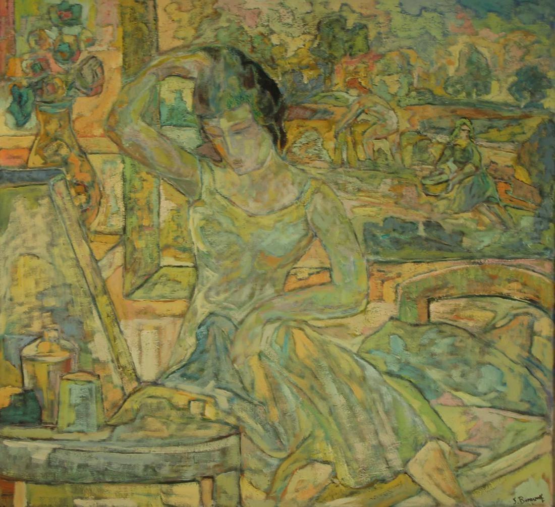 """Seweryn Boraczok (1898-1975) """"Toaleta młodej damy"""", źródło: Clarke Auction Gallery"""