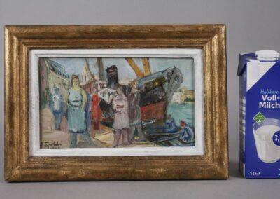 """Henryk Epstein (1890-1944) """"Scena portowa"""", źródło: Mehlis"""
