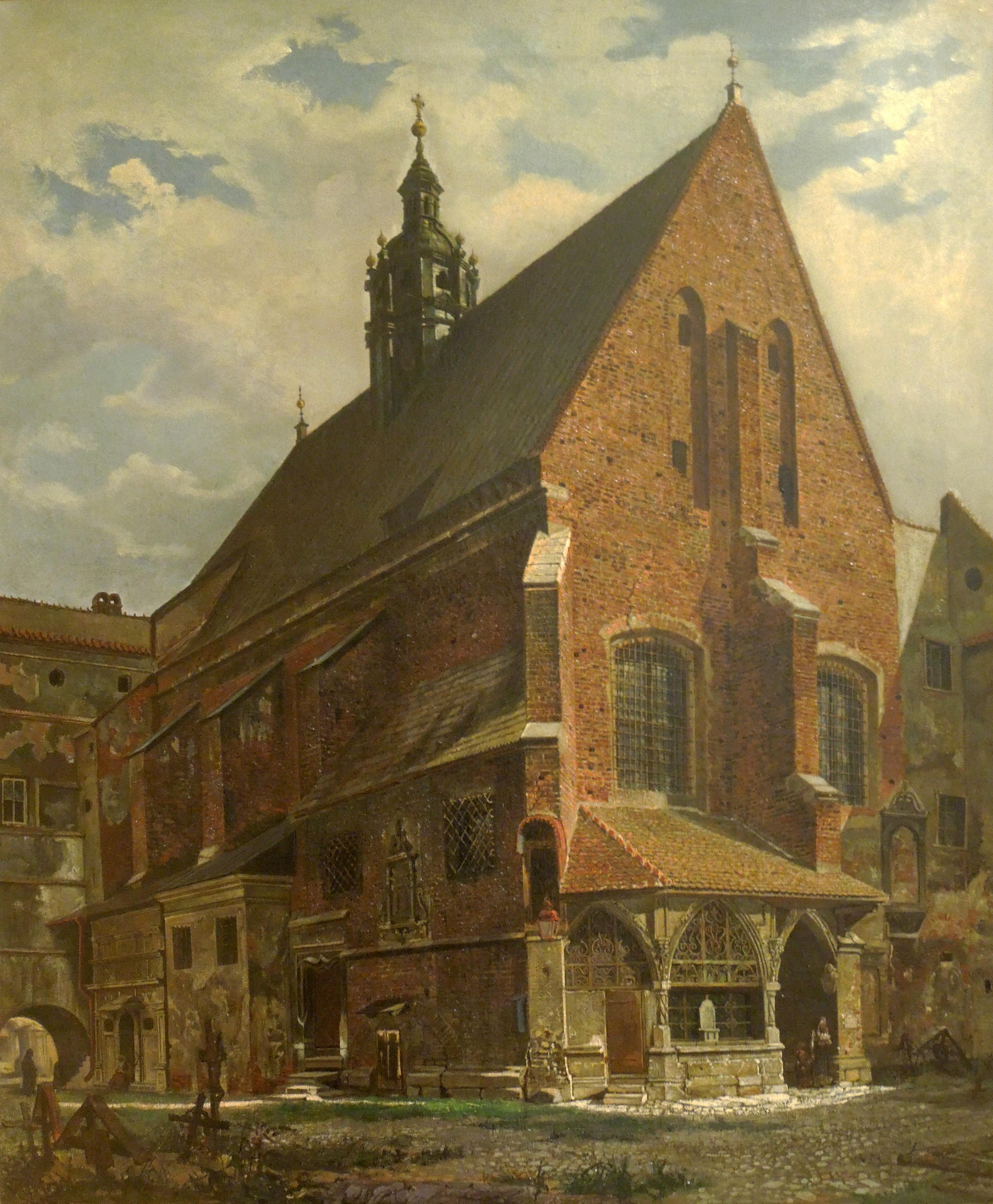 """Aleksander Gryglewski (1833-1879) """"Kościół św. Barbary"""", 1860 rok, źródło: Muzeum Narodowe we Wrocławiu"""