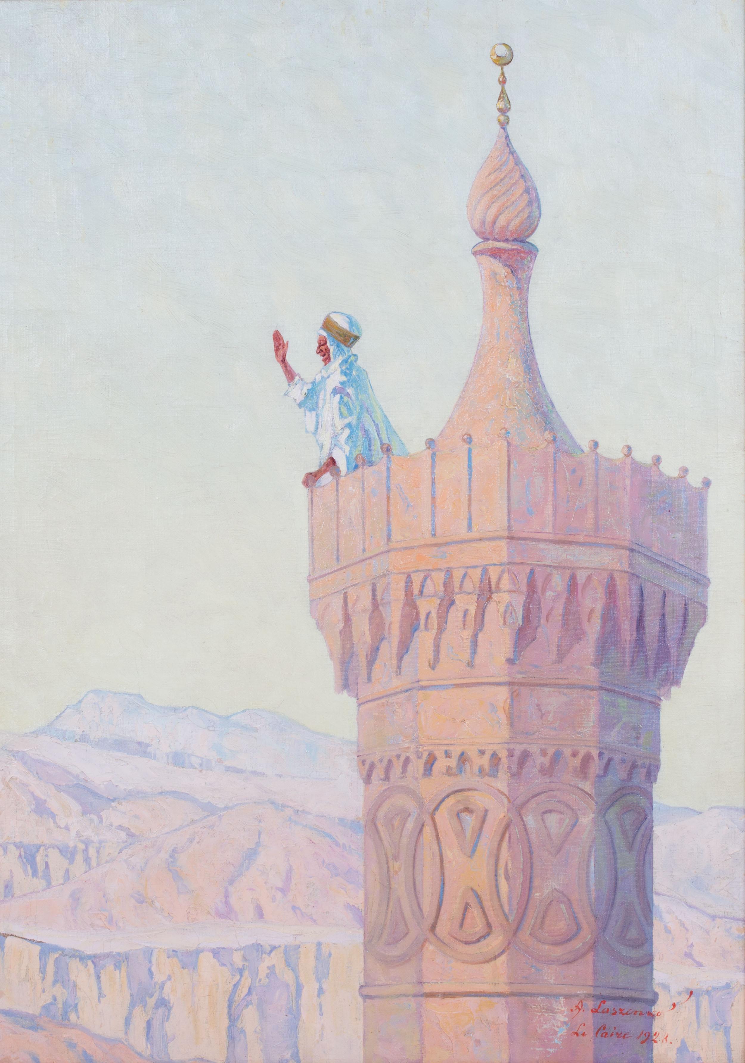 """Aleksander Laszenko (1883-1944) """"Muezzin nawołujący do modlitwy"""", źródło: Salon Dzieł Sztuki Connaisseur"""