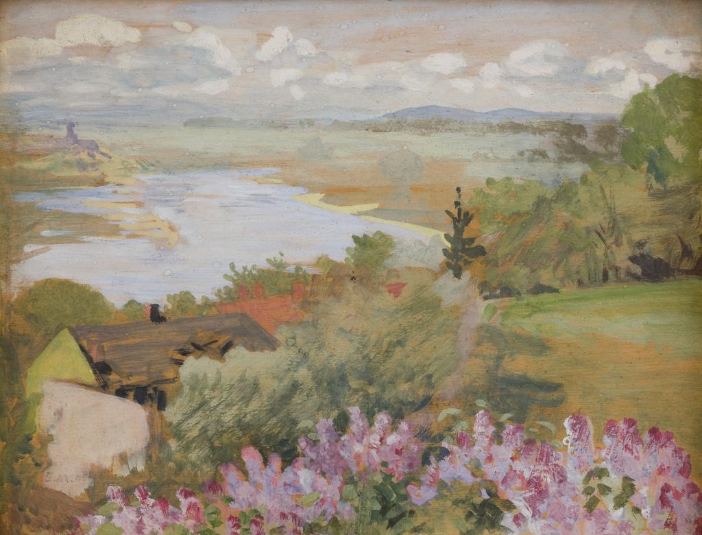 """Jacek Malczewski (1854-1929) """"Dolina Wisły widziana ze Zwierzyńca"""", 1905 rok, źródło: Muzeum Narodowe w Krakowie"""
