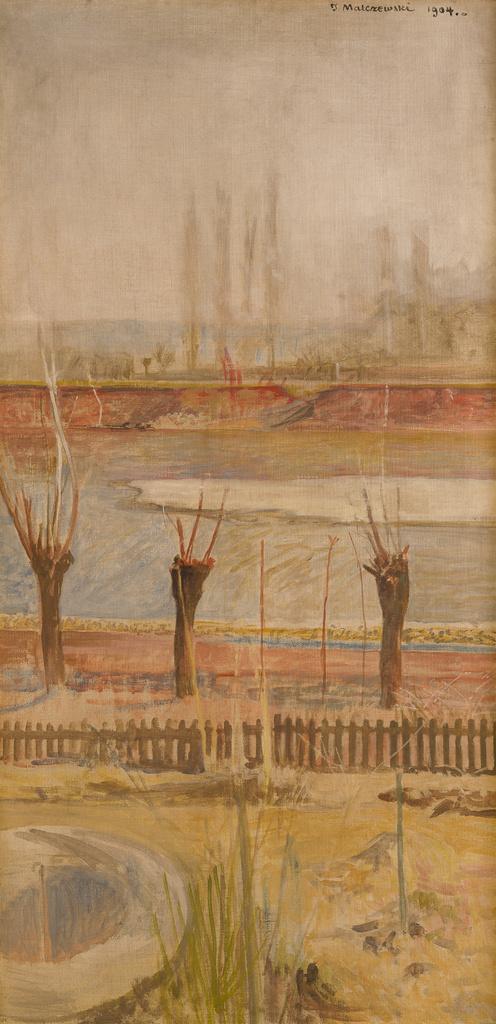 """Jacek Malczewski (1854-1929) """"Krajobraz znad Wisły"""", 1904 rok, źródło: Muzeum Narodowe w Krakowie"""