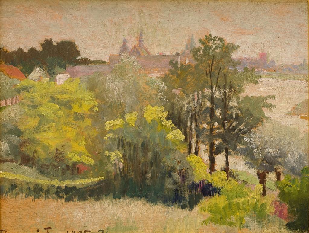 """Jacek Malczewski (1854-1929) """"Widok na Kraków ze Zwierzyńca"""", 1905 rok, źródło: Muzeum Narodowe w Krakowie"""