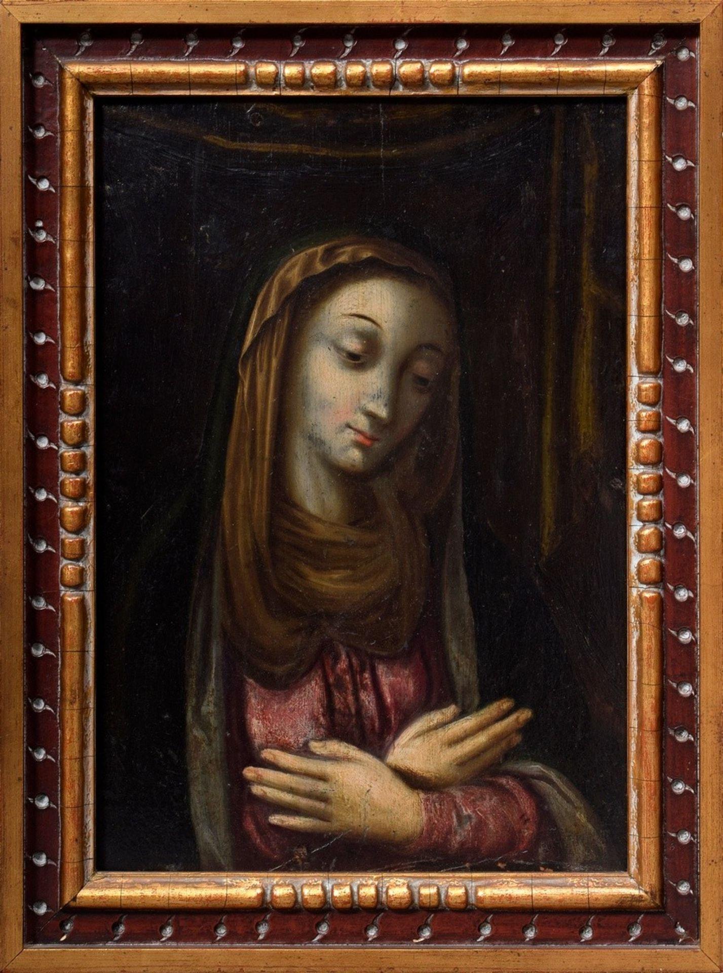 """Autor Nieznany (XVII / XVIII wiek) """"Matka Boża"""", źródło: Auktionshaus Kendzia"""