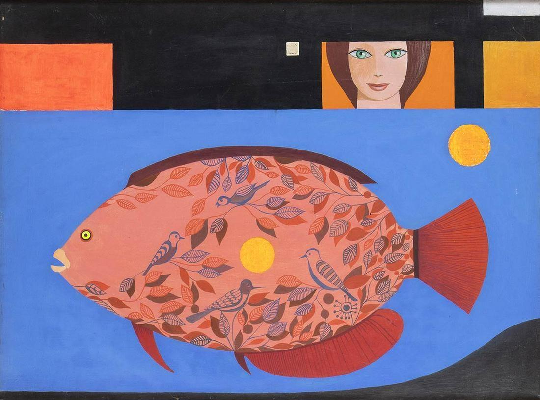 """Kazimierz Mikulski (1918-1998) """"Akwarium I"""", źródło: Bertolami Fine Arts"""