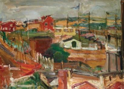"""Zygmunt Schreter (1886-1977) """"Pejzaż"""", źródło: Art for All"""
