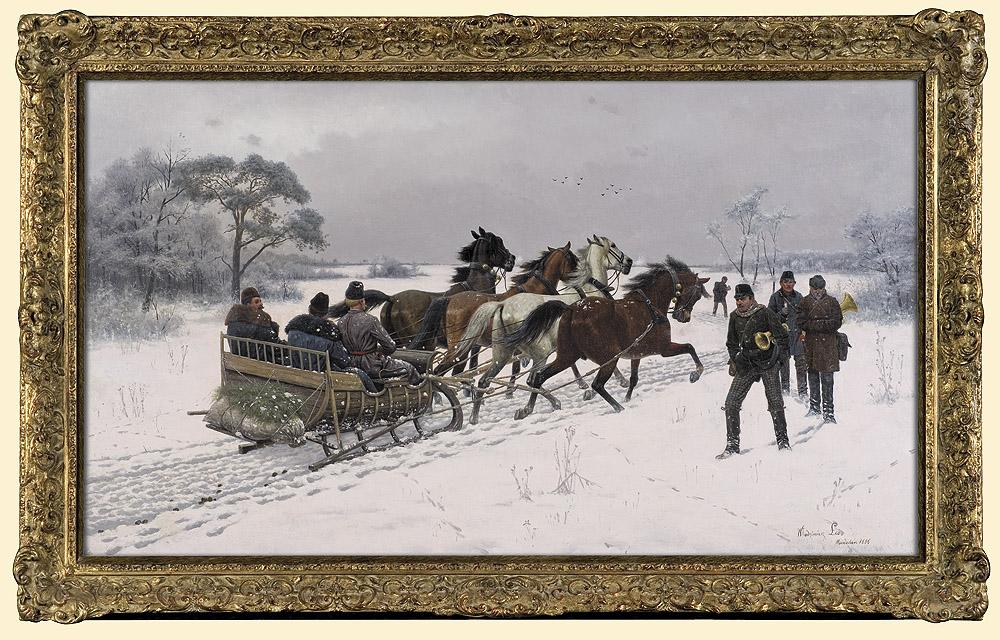 """Włodzimierz Łoś (1849-1888) """"W drodze"""", 1886 rok, źródło: Agra-Art"""