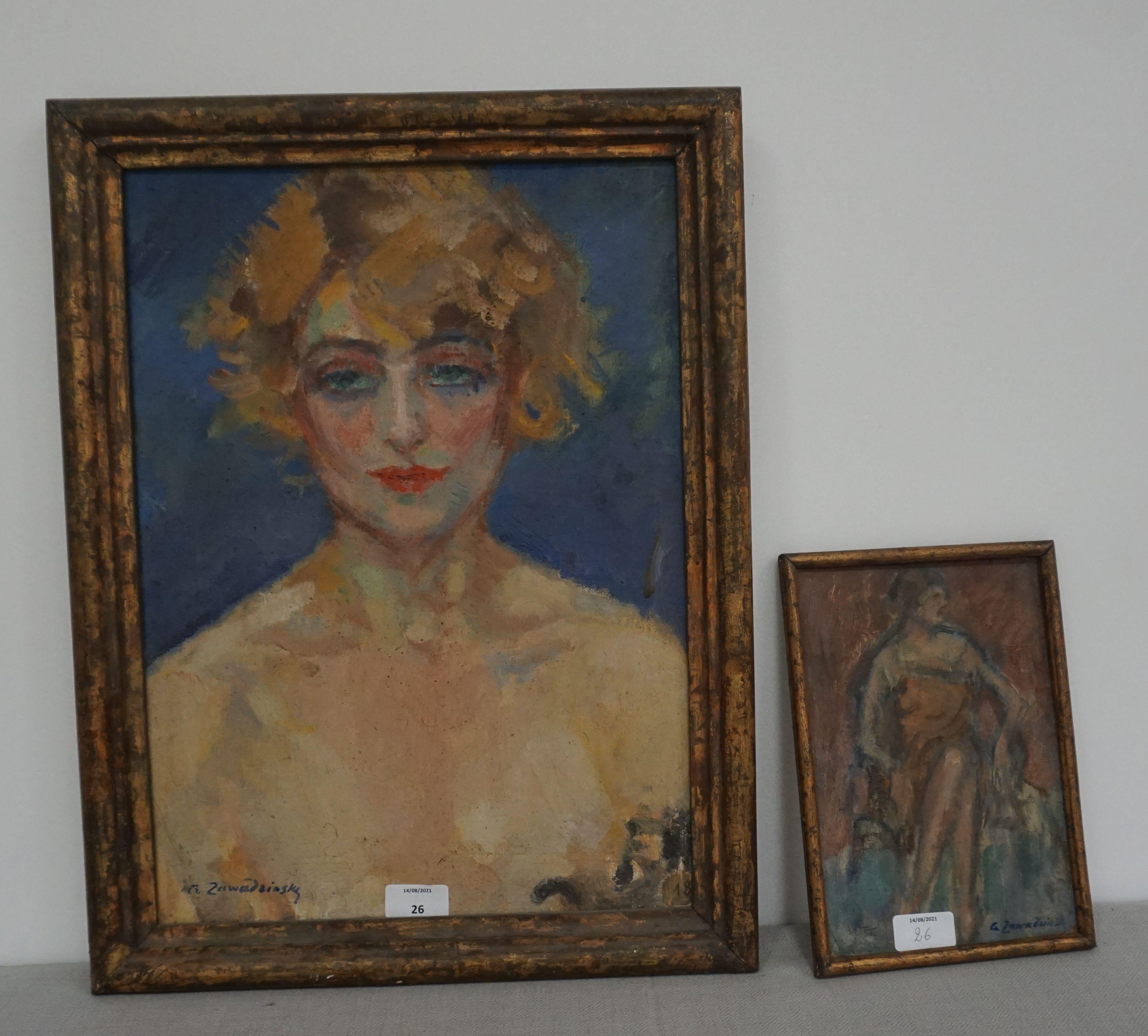 Czesław Zawadziński (1878-1956) Para obrazów, źródło: Laurent Etienne et Sarl Vichy Encheres