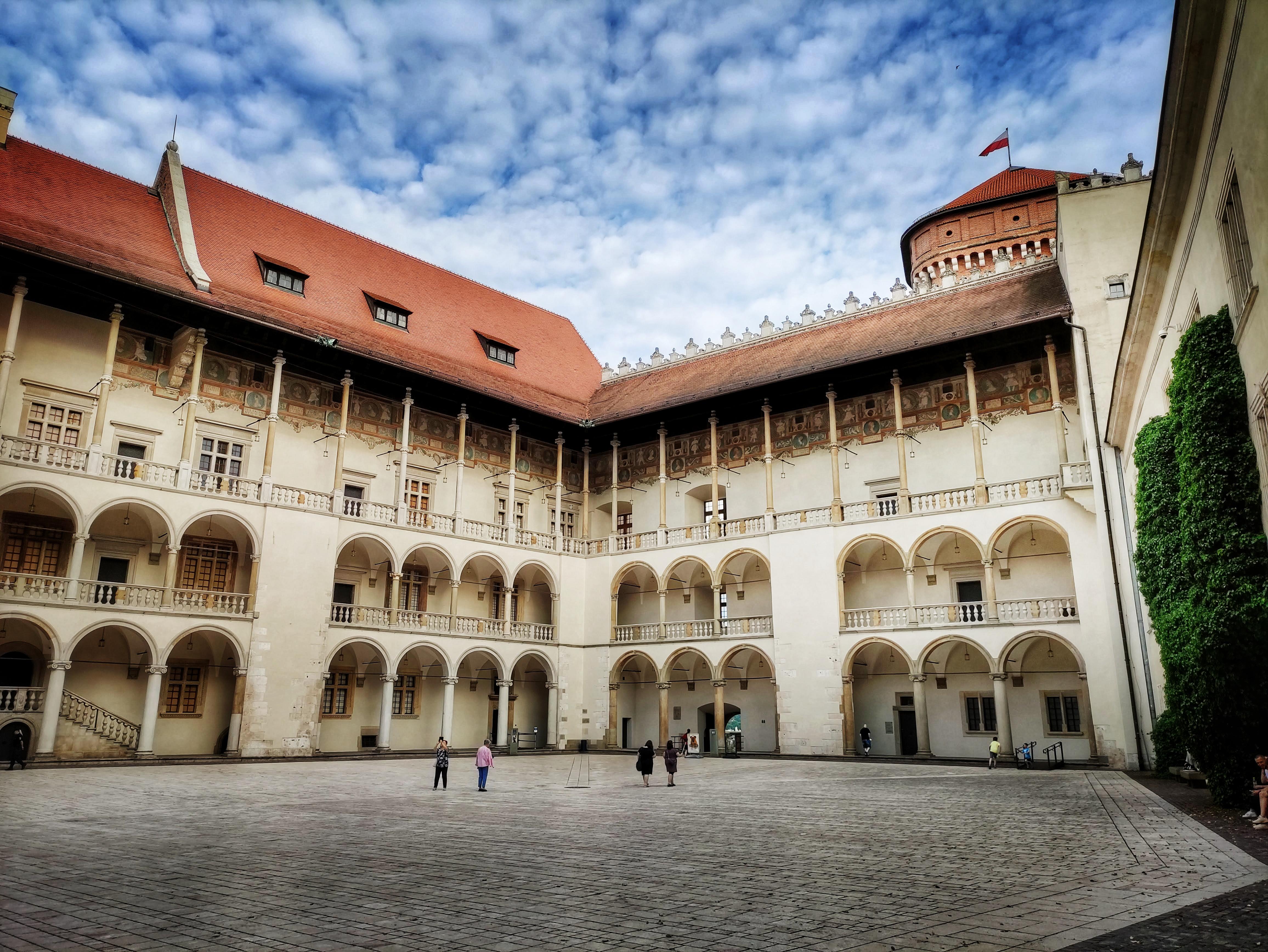 Dziedziniec arkadowy Zamku na Wawelu, źródło: archiwum autorki
