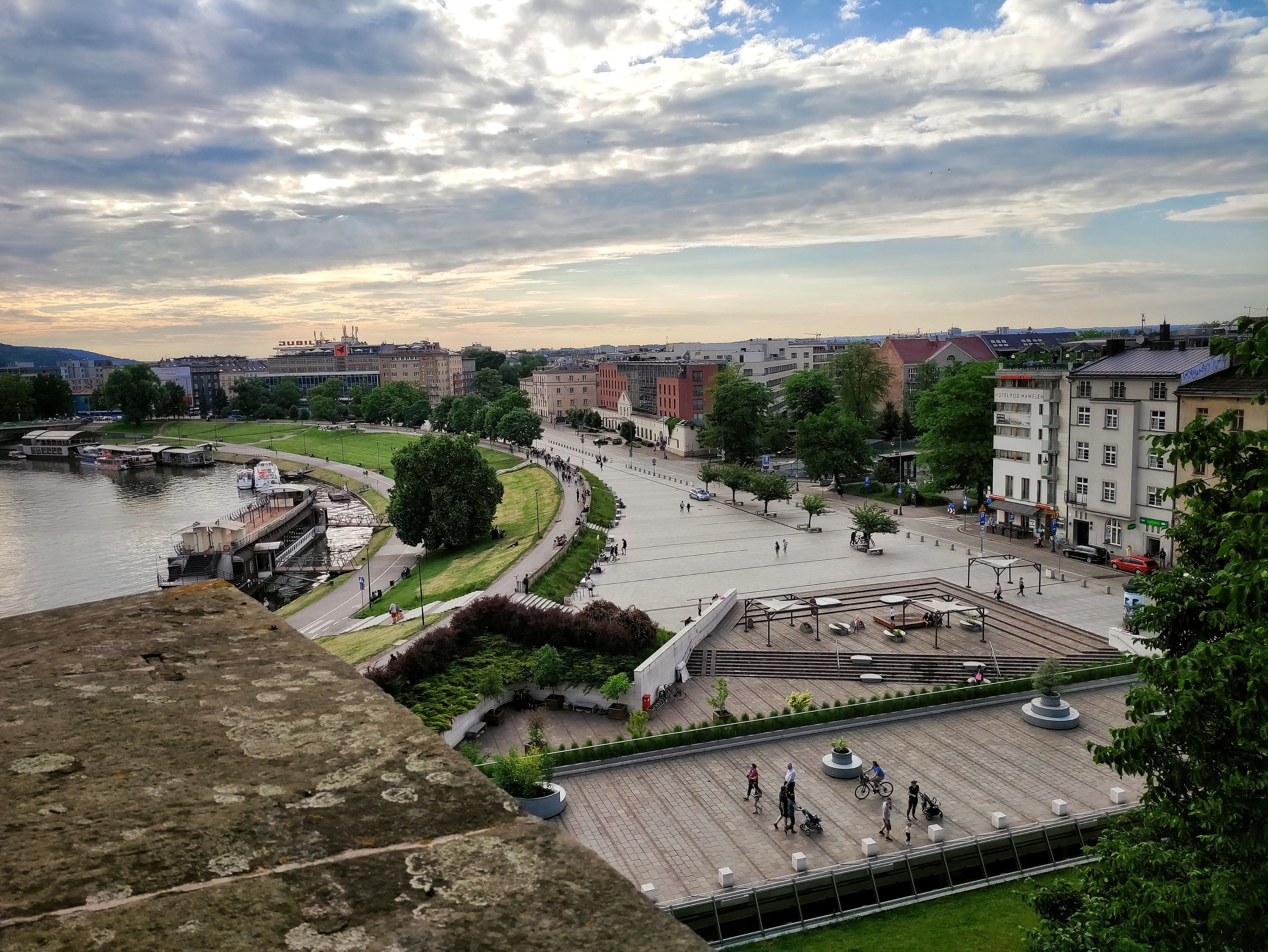 Widok z Wawelu na dzisiejszy Plac na Groblach, źródło: archiwum autorki