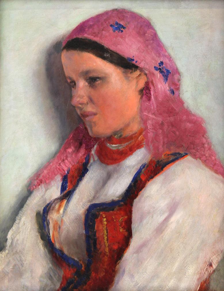 """Aleksander Gierymski (1850-1901) """"Dziewczyna z Bronowic"""", lata 1893-1894, źródło: Muzeum Narodowe w Krakowie"""
