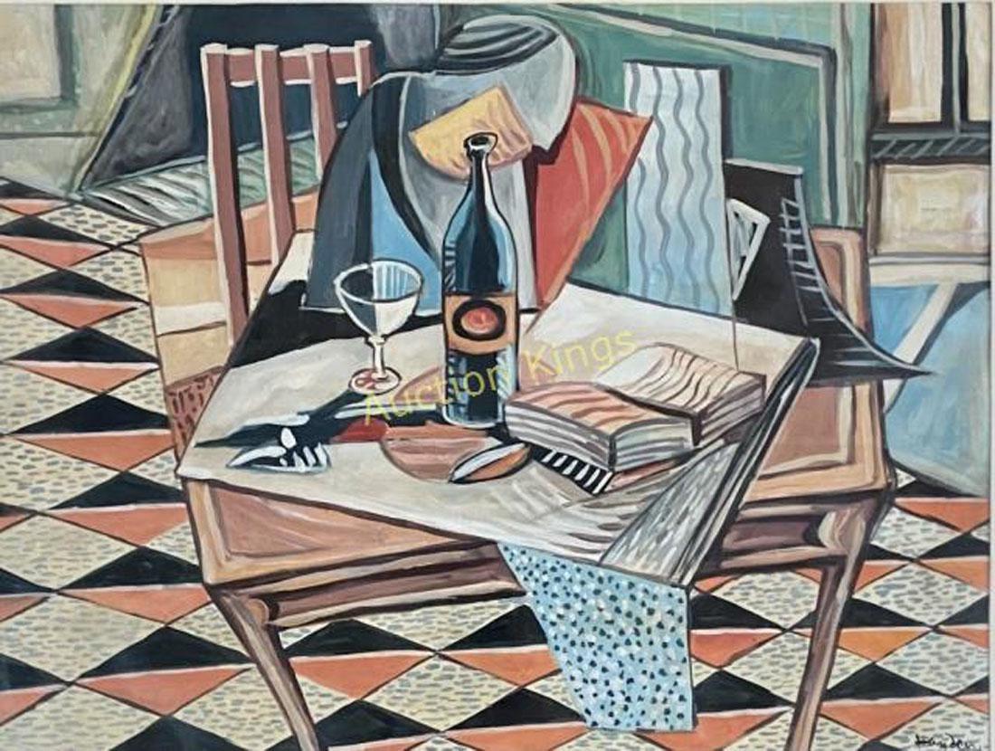 "Henryk Hayden (1883-1970) ""Kubistyczna martwa natura"", źródło: Auction Kings"