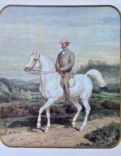 """Juliusz Kossak (1824-1899) """"Portret konny hr. Adama Potockiego"""" - własność: Muzeum Narodowe w Warszawie"""