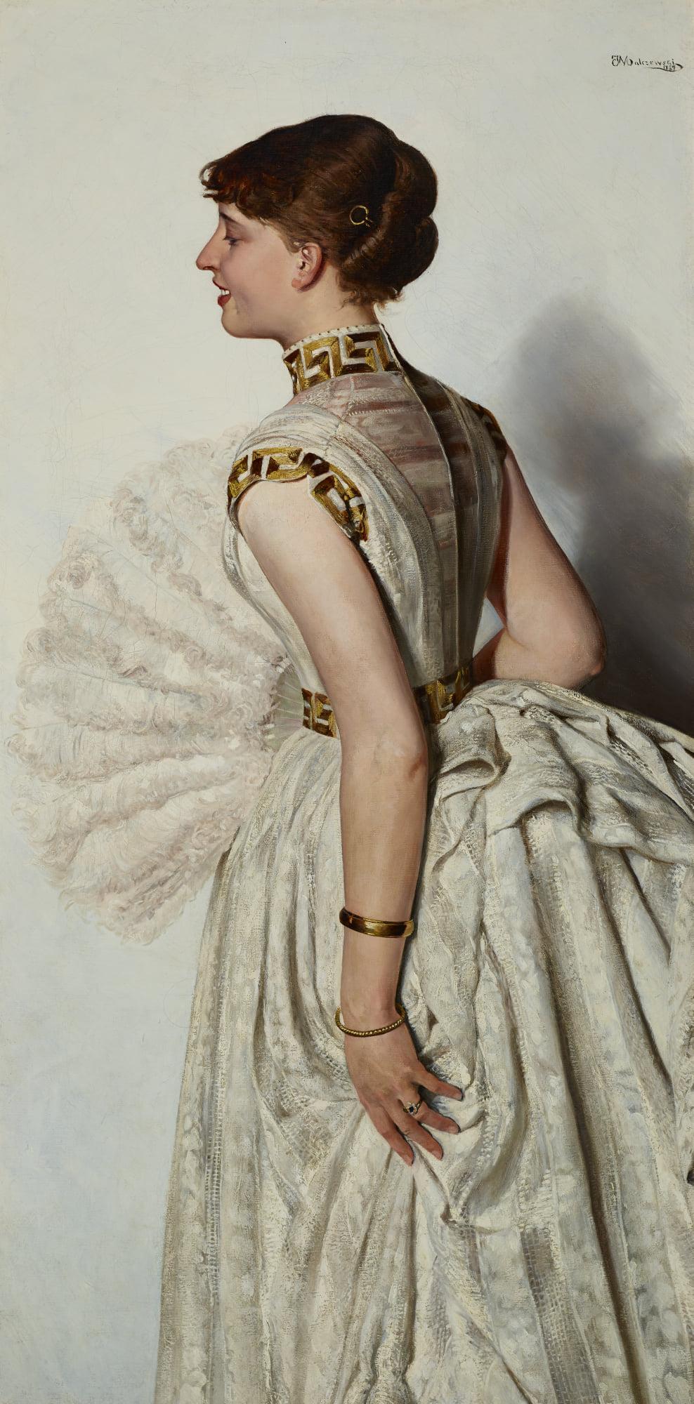 """Jacek Malczewski (1854-1929) """"Portret narzeczonej (Marii Gralewskiej)"""", 1887 rok, źródło: Muzeum Narodowe w Krakowie"""