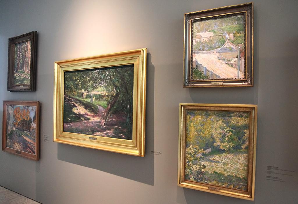 Dwa kazimierskie obrazy Józefa Pankiewicza w Muzeum Śląskim w Katowicach (po prawej stronie), źródło: archiwum autora