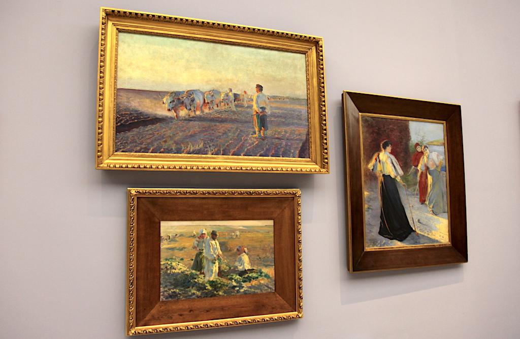 """Obraz """"Orka na Ukrainie"""" na ekspozycji w krakowskich Sukiennicach, źródło: archiwum autora"""
