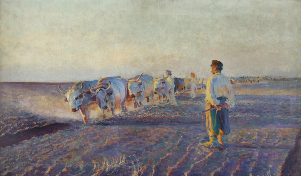 """Leon Wyczółkowski (1852-1936) """"Orka na Ukrainie"""", 1892 rok, źródło: Muzeum Narodowe w Krakowie"""
