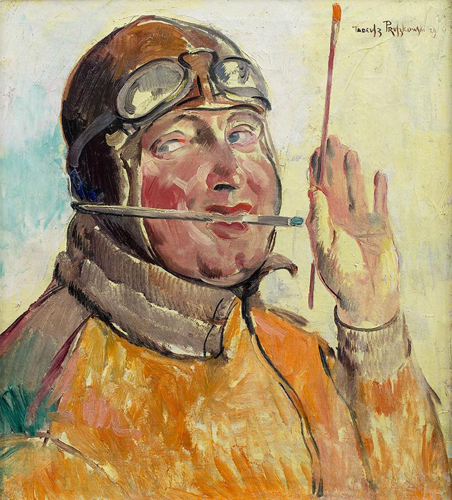 """Tadeusz Pruszkowski (1888-1942) """"Autoportret"""", 1926 rok, źródło: Sopocki Dom Aukcyjny"""