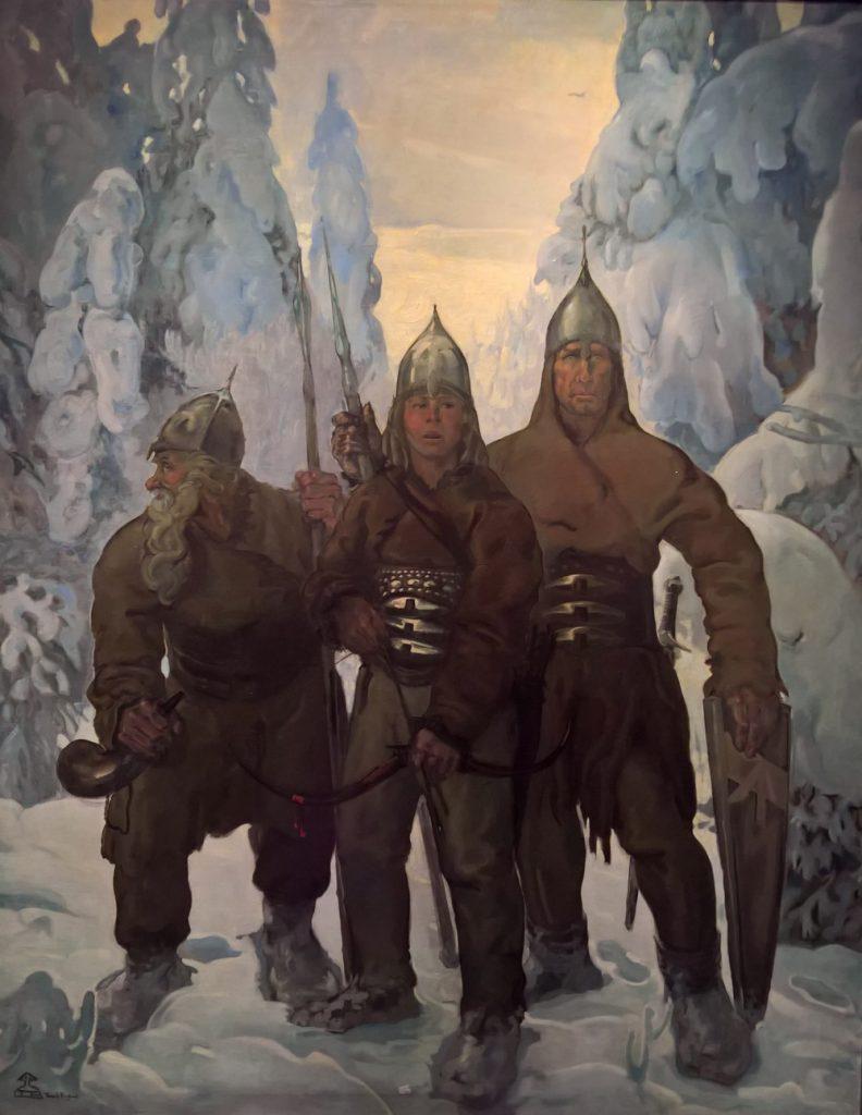 """Tadeusz Pruszkowski (1888-1942) """"Piastuny"""", 1917 rok, źródło: Muzeum Narodowe w Lublinie"""