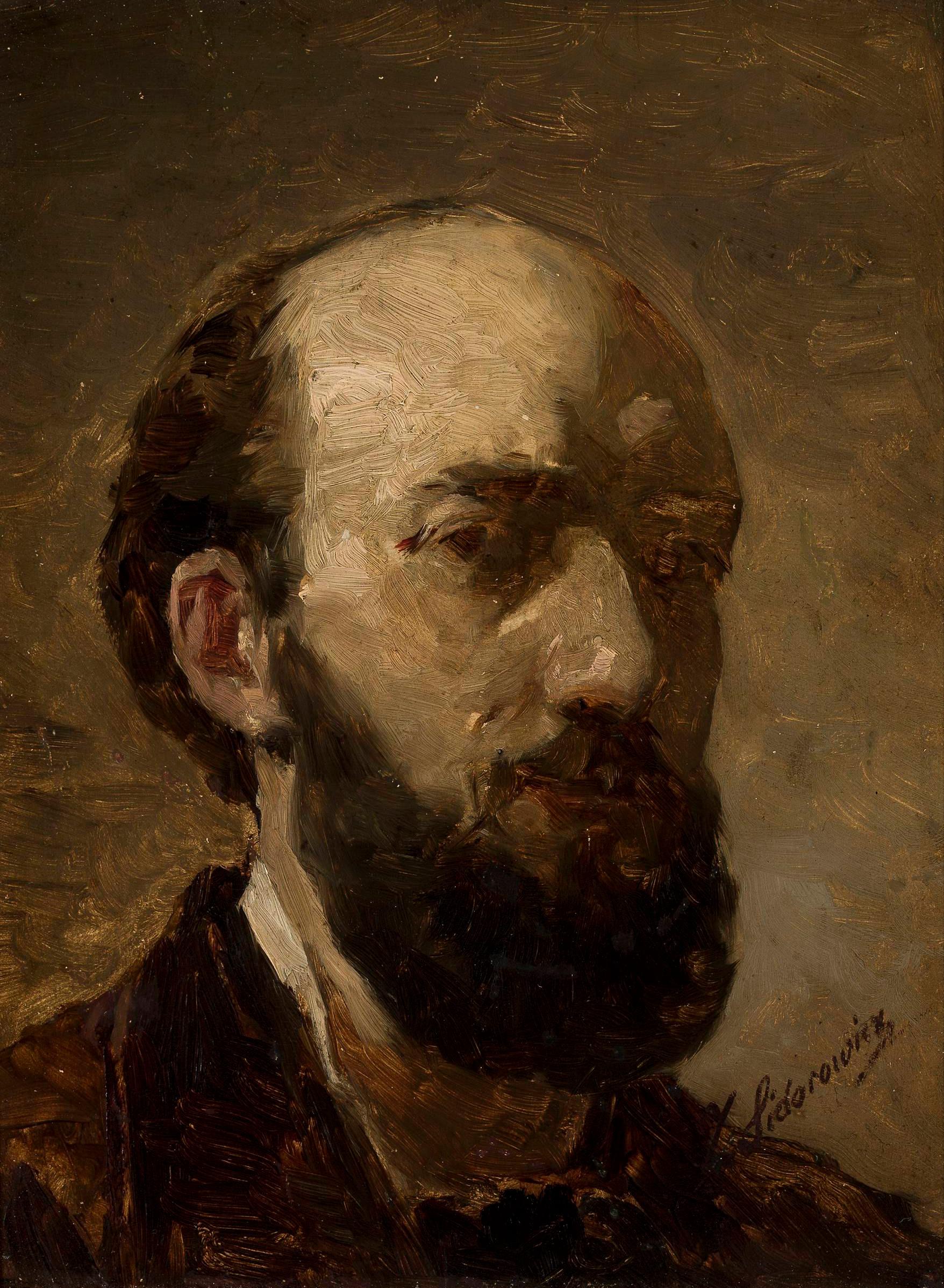 """Zygmunt Sidorowicz (1846-1881) """"Autoportret"""", ok. 1880 roku, źródło: Muzeum Narodowe w Warszawie"""