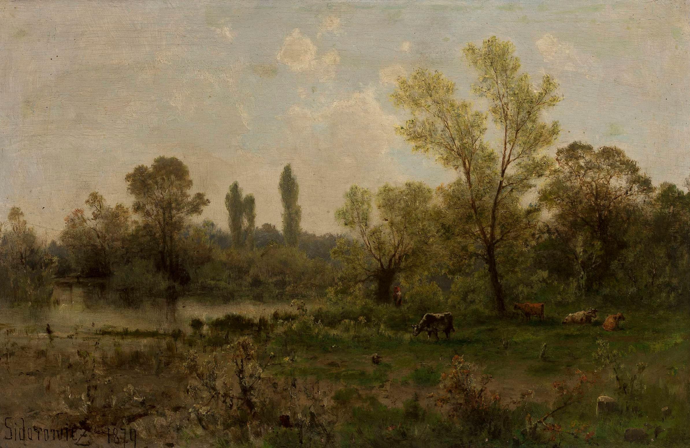 """Zygmunt Sidorowicz (1846-1881) """"Krajobraz"""", 1874 rok, źródło: Muzeum Narodowe w Warszawie"""