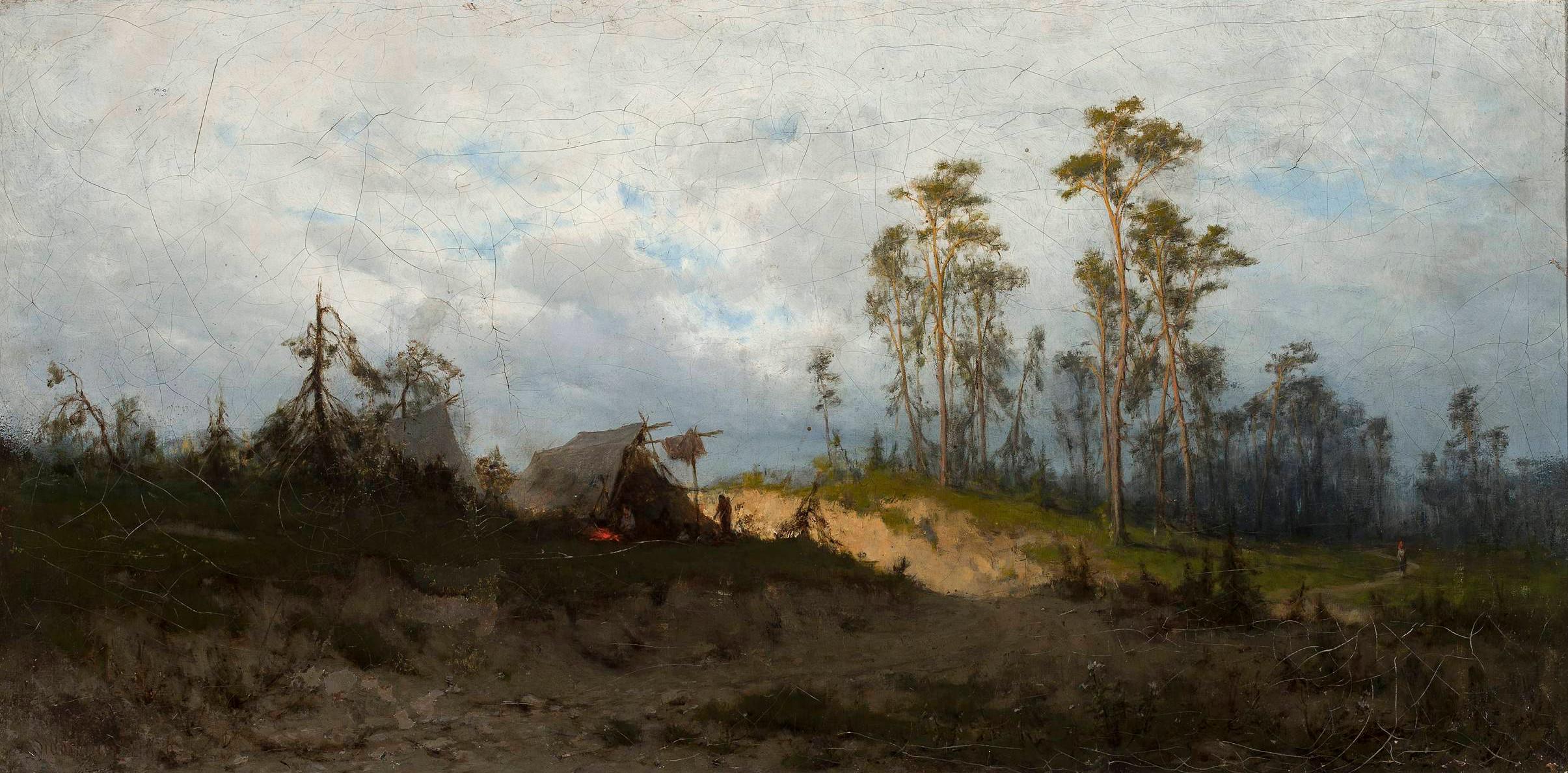 """Zygmunt Sidorowicz (1846-1881) """"Szatry cygańskie"""", 1876 rok, źródło: Muzeum Narodowe w Warszawie"""