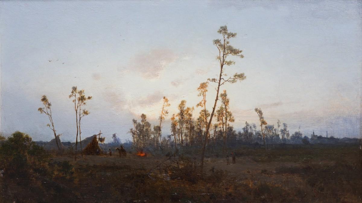 """Zygmunt Sidorowicz (1846-1881) """"Szatry cygańskie"""", 1877 rok, źródło: Salon Dzieł Sztuki Connaisseur"""