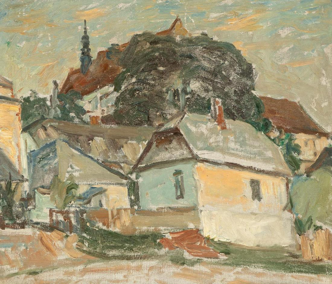 """Leon Wyczółkowski (1852-1936) """"Kazimierz Dolny"""", źródło: Ahlers & Ogletree Auction"""